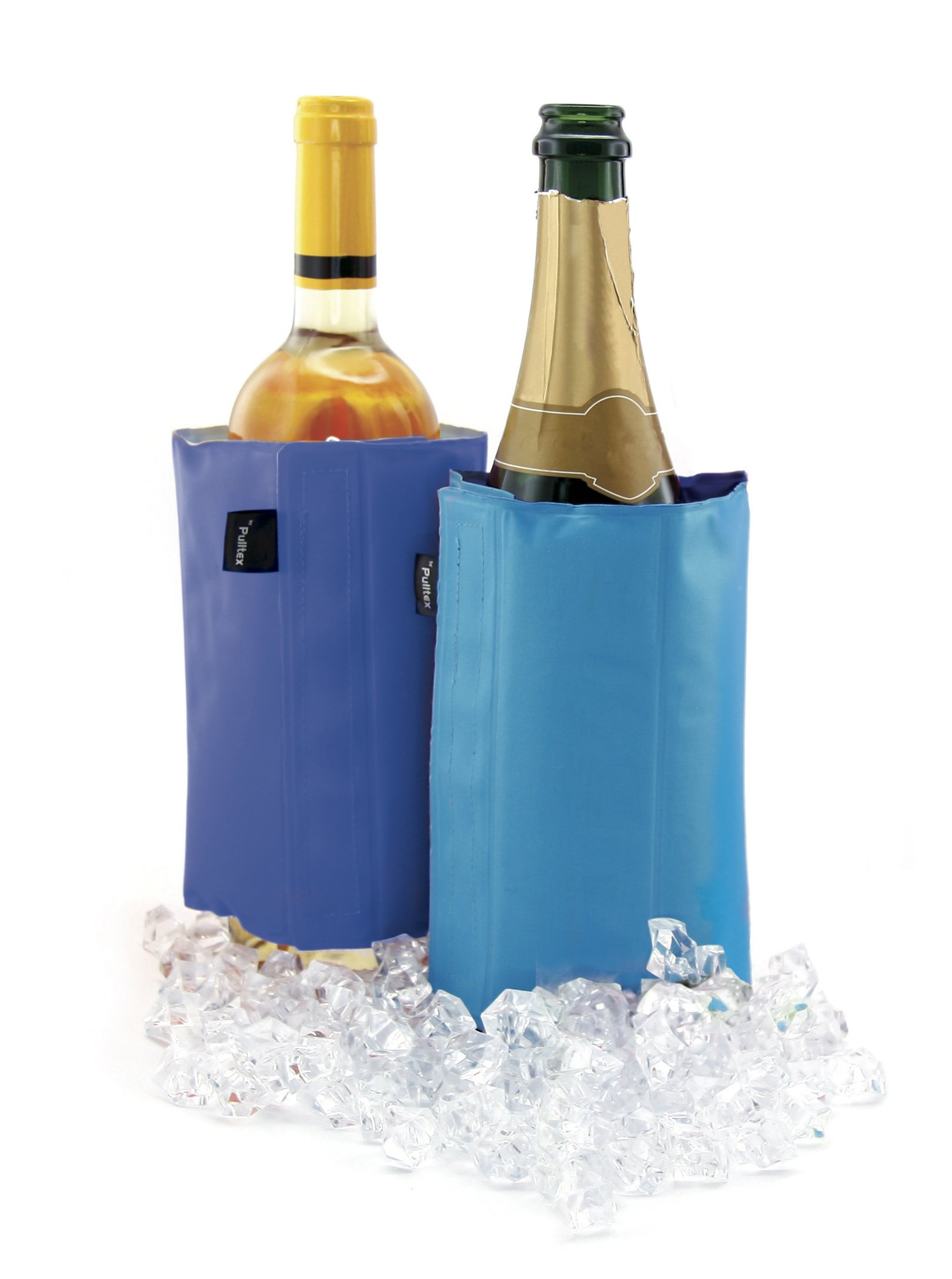 2 in 1 Champagner & WINE COOLER Blue & Cyan